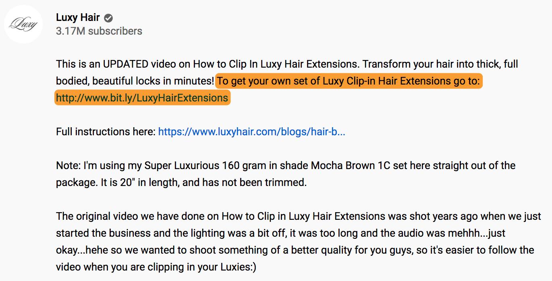 Mô tả về 7 mái tóc sang trọng trên youtube
