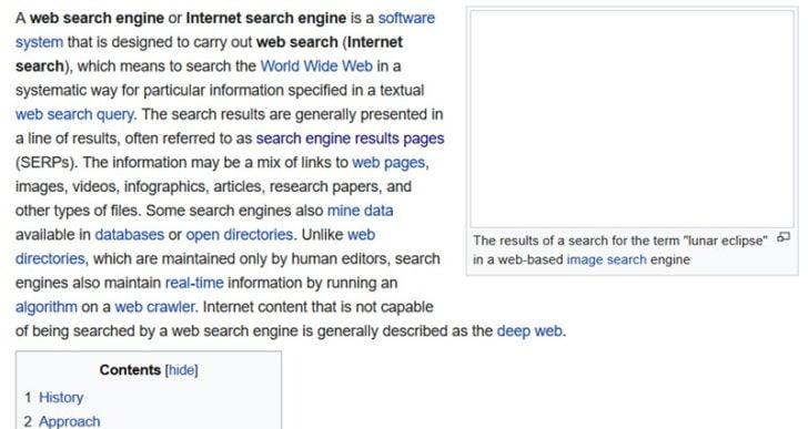 Core Web Vitals và các yếu tố xếp hạng khác cho năm 2021 - Wikipedia