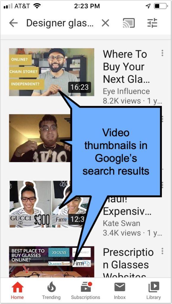 Tạo hình thu nhỏ video bắt mắt để xếp hạng trong băng chuyền video của Google