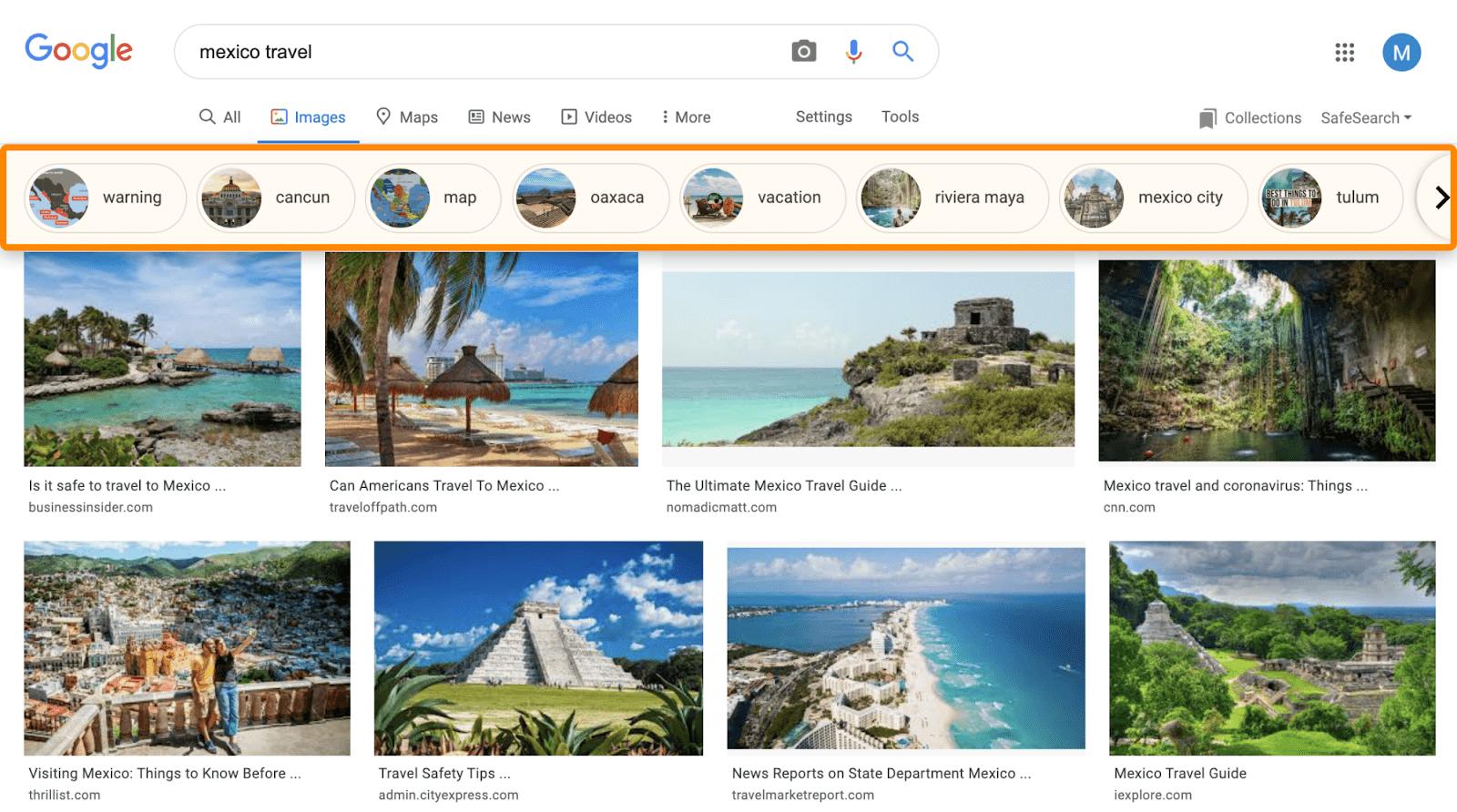 16 thực thể hình ảnh google