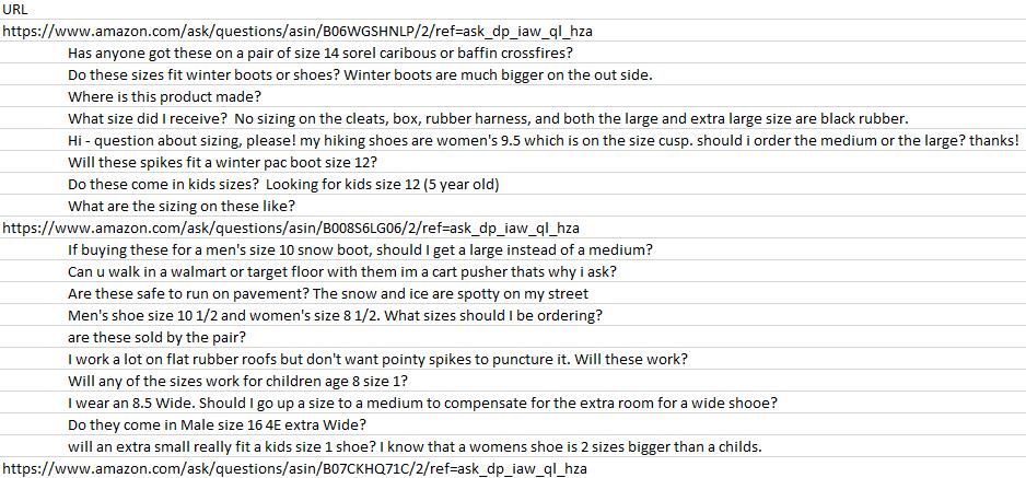 Danh sách câu hỏi cuối cùng được tạo bằng XPath