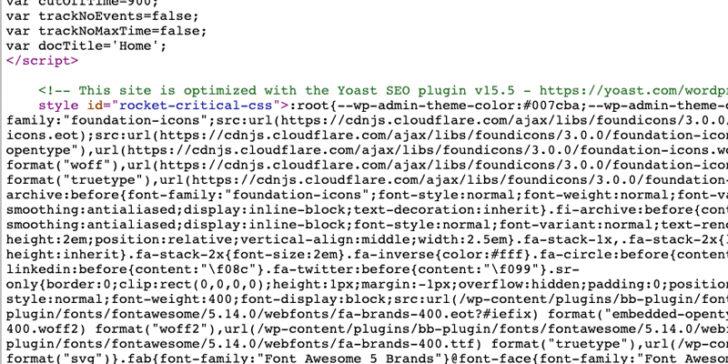 Các phần tử báo cáo Core Web Vitals - CSS nội tuyến