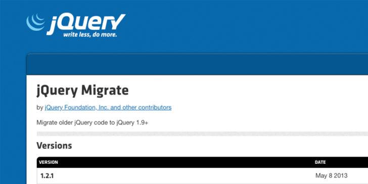 Phần tử báo cáo Core Web Vitals - Xóa jQuery Migrate